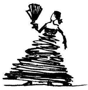 ilustracja reklamowa - tancerka flamenco