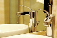 Fotografia wnętrza: fragment łazienki