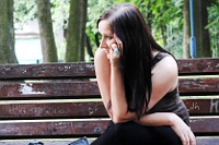 Sesja zdjęciowa: Justyna na ławce, wersja - zbliżenie
