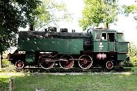 Parowozownia w Skierniewicach, stary zielony parowóz