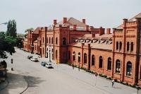 Skierniewice: Dworzec PKP - widok od strony miasta