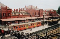 Skierniewice: Dworzec PKP, widok na perony