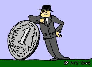 ilustracja: oparcie w złotówce